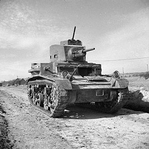M2 light tank - M2A4 Light Tank in British service, 11 March 1942
