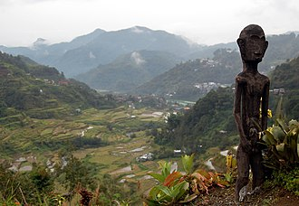 Banaue Rice Terraces - The Bulol, an Ifugao rice god.