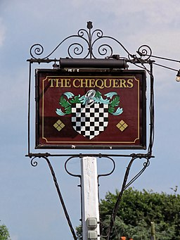 The Chequers pub sign at Matching Green, Essex, England 1