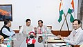 The Chief Minister of Assam, Shri Sarbananda Sonowal meeting the Minister of State for Culture and Tourism (Independent Charge), Dr. Mahesh Sharma, in New Delhi on March 23, 2017 (1).jpg