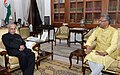 The Chief Minister of Uttarakhand, Shri Trivendra Singh Rawat meeting the President, Shri Pranab Mukherjee, at Rashtrapati Bhawan, in New Delhi on March 22, 2017.jpg