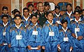 The Chief of Army Staff, Gen. V.K. Singh with the School Children who visited Delhi under 'Operation Sadbhavana' tour from remote villages Surankot of Poonch district, J&K, in New Delhi on December 14, 2010.jpg