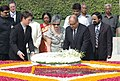 The Governor-General of New Zealand, Mr. Anand Satyanand, and his wife Mrs. Susan Satyanand laying wreath at the Samadhi of Mahatma Gandhi at Rajghat, in Delhi on September 09, 2008.jpg