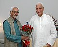 The Governor of Orissa Shri M.C. Bhandare meeting with the Vice President, Mohd. Hamid Ansari, in New Delhi on October 15, 2007.jpg