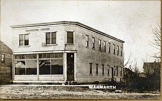 Marmarth, North Dakota - The Harrison House in Marmarth, 1915.