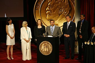 KCET - Karen Foshay, Judy Miller, Justine Schmidt, Bret Marcus, John Larson and Rick Wilkinson of KCET at the 69th Annual Peabody Awards for SoCal Connected: Up in Smoke