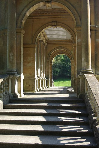 Prior Park - Inside the Palladian Bridge