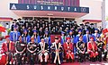 The President, Shri Pranab Mukherjee in a group photograph at the Convocation Ceremony of Army College of Dental Sciences (ACDS), Secunderabad, in Telangana.jpg