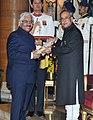 The President, Shri Pranab Mukherjee presenting the Padma Bhushan Award to Dr. Ashok Seth, at a Civil Investiture Ceremony, at Rashtrapati Bhavan, in New Delhi on March 30, 2015.jpg