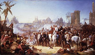 Siege of Lucknow - The Relief of Lucknow, by Thomas Jones Barker