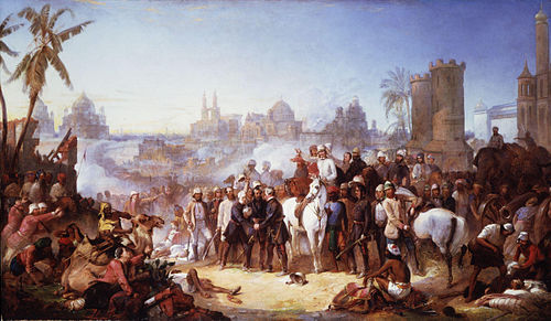 """The Relief of Lucknow"" by Thomas Jones Barker The Relief of Lucknow, 1857 by Thomas Jones Barker.jpg"