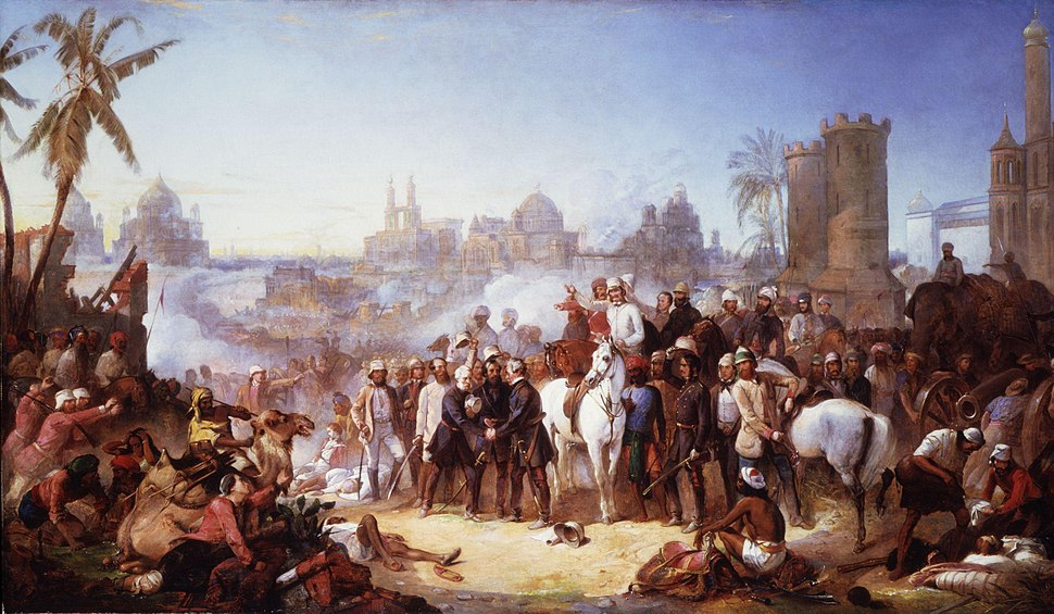 The Relief of Lucknow, 1857 by Thomas Jones Barker