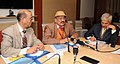 The Secretary Ministry of Tribal Affairs, Dr. H. Panda delivering the key note address at the Stakeholder consultation on Tribal health issues, in New Delhi on January 07, 2015.jpg