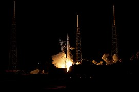 The SpaceX Falcon 9 rocket lifts off from Cape Canaveral Air Force Station.jpg