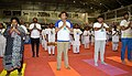 The Union Minister for Commerce & Industry and Civil Aviation, Shri Suresh Prabhakar Prabhu performing Yoga, on the occasion of the 4th International Day of Yoga 2018, in Chennai on June 21, 2018.JPG