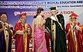 The Vice President, Shri M. Venkaiah Naidu presenting Gold Medals to the Students at the 9th Annual Convocation of Jawaharlal Institute of Postgraduate Medical Education and Research (JIPMER), in Puducherry (3).JPG