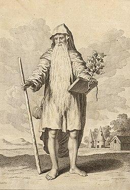 The chief Druid, engraving