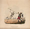The dance of death; Death sees a dustman. Colour lithograph Wellcome V0042024.jpg