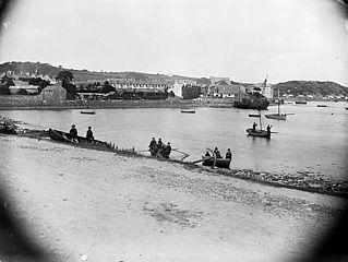 The harbour, Pwllheli (c 1885)