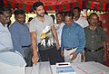 The noted cine star Jeyam Ravi trying his hands on demo EVM, at the three day long exhibition as part of ongoing voters' awareness campaign, at Anna Nagar, in Chennai. The Addl. DG, PIB, Chennai.jpg