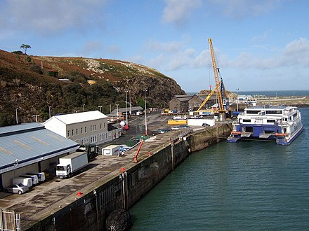 Ferry port at Goodwick The quay at Fishguard ferryport - geograph.org.uk - 310263.jpg
