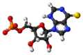 Thioinosine monophosphate anion 3D ball.png