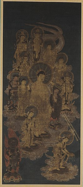 File:Thirteen Buddhas Welcoming the Dying Believer to the Western Pure Land LACMA M.2000.32.jpg