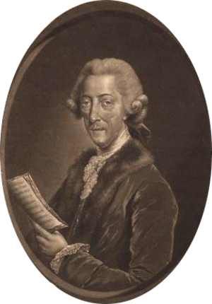Susannah Maria Cibber - Portrait of Cibber's older brother, Thomas Arne. He was a highly prolific composer of music for the stage and is considered the most significant figure in 18th-century English theatre music. Susannah and Thomas enjoyed a close lifelong relationship and Arne was the most constant presence in her life.