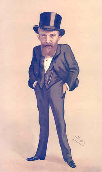 "Sir Thomas Russell, 1st Baronet - ""loyal and patriotic"" Russell as caricatured by Spy (Leslie Ward) in Vanity Fair, March 1888"