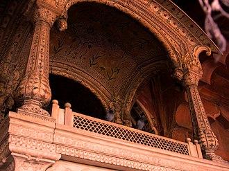 Akbar II - Throne of king Akbar II Red fort Delhi