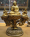 Tibet, padmasambhava tra le sue due spose, xviii sec.JPG