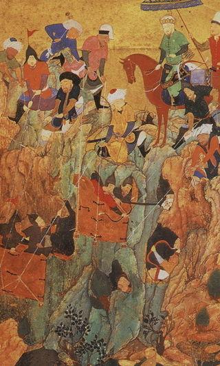 Timur's army attacks Nerges, Georgia.jpg