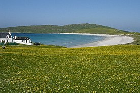 Looking West to Balephuil Bay, across the famous Hebridean Machair.