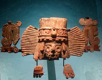 Tlāloc - Fragments of a brazier depicting Tlaloc from Stage IVB of the Great Temple in Mexico City.