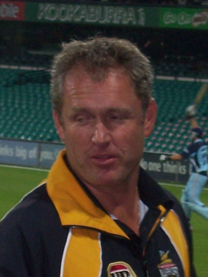 English: Picture of Tom Moody in capacity of W...