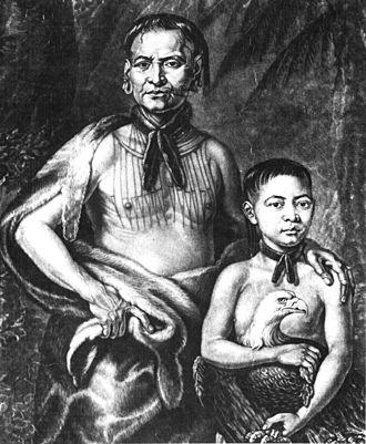 Tomochichi - Tomochichi and his nephew, Toonahawi