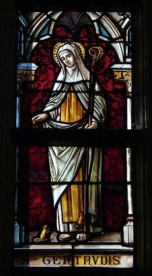 Gertrude of Nivelles - Image: Tongeren Liebfrauenbasilika Fenster Andreas 736
