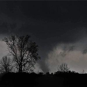 Tornado outbreak of December 23–25, 2015 - EF3 tornado approaching I-55 near Como, MS.