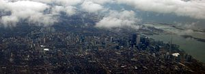 Downtown Toronto - Aerial view of downtown