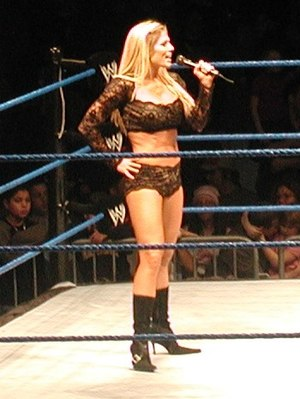 Torrie Wilson - Wilson at the ring during a WWE house show in 2005