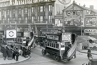 History of London (1900–1939) - Tottenham Court road in 1927