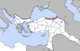 Location of Trebizond Vilayet