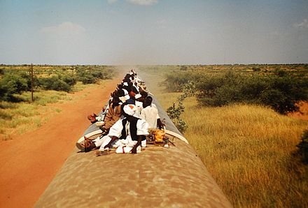 A train travelling towards Wau Train Sudan towards Wau.jpg