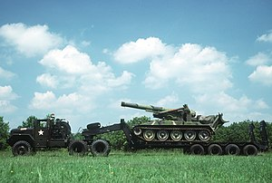 M123 and M125 10-ton 6x6 trucks - Image: Transport of a M110