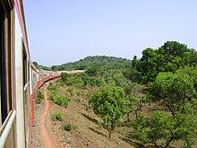 La linea ferroviaria che collega Ngaoundéré a Yaoundé.