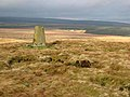 Trig pillar on Spy Crags - geograph.org.uk - 672465.jpg