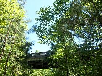Triple C Rail Trail - Image: Triple C Rail Trail passing under SC Hwy 97