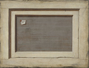 "Cornelis Norbertus Gysbrechts - Cornelius Nobertus Gijsbrechts,""Trompe l'oeil. The Reverse of a Framed Painting"", 1668-1672, Statens Museum for Kunst."