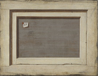 1670 in art - Image: Trompe l'oeil. Bagsiden af et indrammet maleri