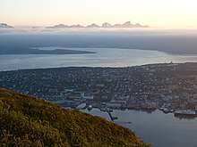 Tromsø in midnight sun in July